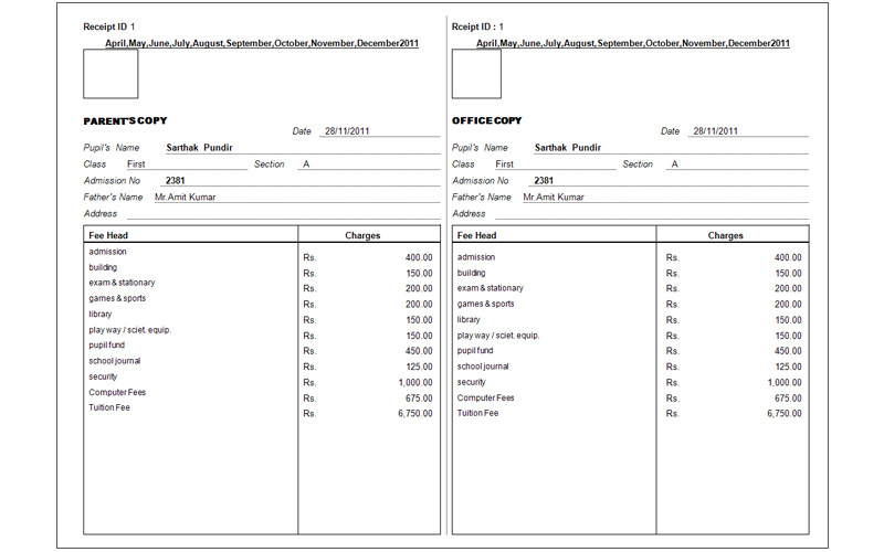 Doc800500 Fees Receipt Format FeeReceiptlargejpg 92 More – Fee Receipt Format